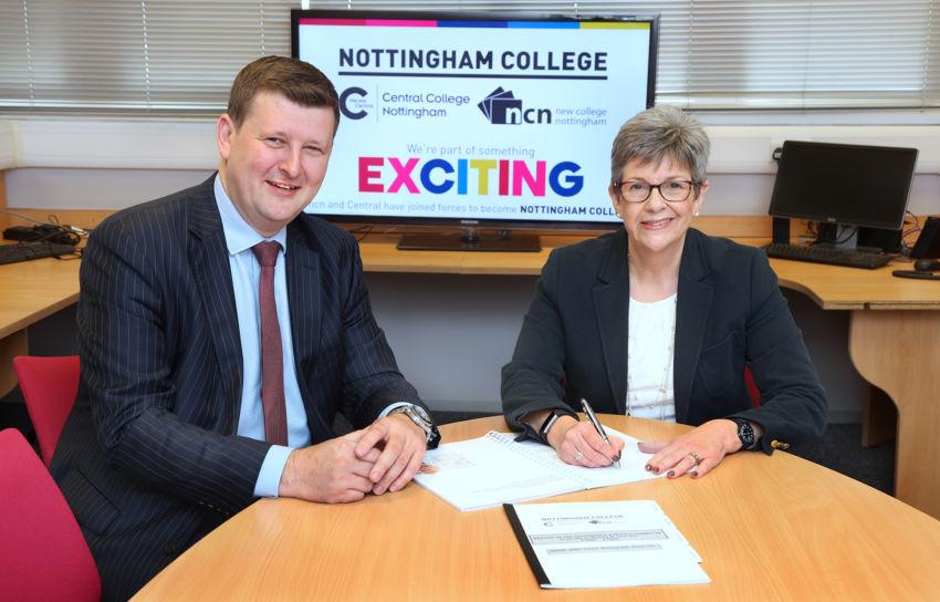 Nottingham College Merger Signing 5