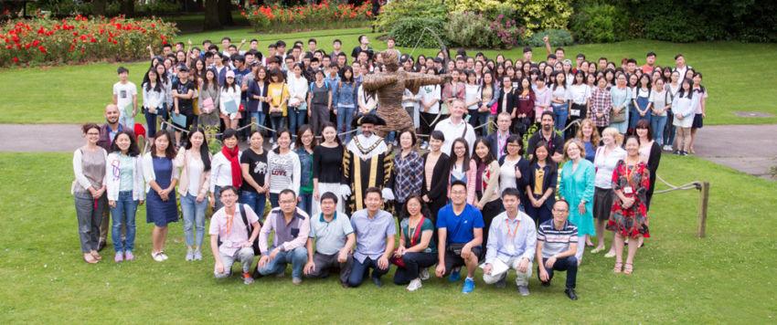 International Students Robin Hood Statue