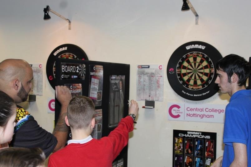 Darts Children Action Shot